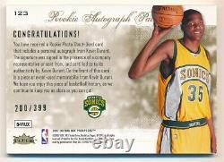 Kevin Durant 2007/08 Hot Prospects Rc Rookie Autograph 3 Color Patch Auto #/399