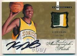 Kevin Durant 2007/08 Hot Prospects Rookie Autograph 3 Color Patch Auto Sp #/399