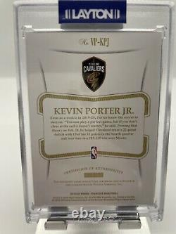 Kevin porter jr flawless auto rookie 3 Color patch 7/15 nba panini 2020 Rpa