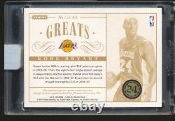 Kobe Bryant 2013 Flawless NBA Greats SICK 3 COLOR DUAL GU PATCH AUTO #D 16/25