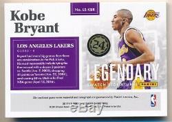 Kobe Bryant 2017/18 Panini Encased Legendary Autograph 3 Color Patch Auto #01/10