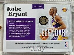 Kobe Bryant 3 Color Patch Auto 17-18 Panini Legendary Swatch Signatures 5/10