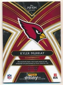 Kyler Murray 2019 Panini Select Rc Autograph Jumbo 3 Color Patch Auto Sp #32/35