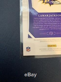 Lamar Jackson 2018 national treasures rpa 92/99 4 Color Patch Rc Auto