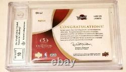 LeBRON JAMES 2007 UPPER DECK EXQUISITE AUTO AUTOGRAPH 3 COLOR PATCH CARD #8/35