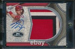 MIKE TROUT 2020 Topps Sterling Splendor JUMBO 3-COLOR PATCH AUTO /3 RARE ANGELS