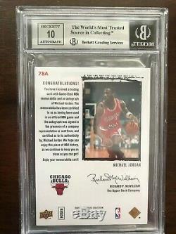 Michael Jordan RARE Exquisite Rookie flashback auto 10 BGS 8.5 73A Patch color