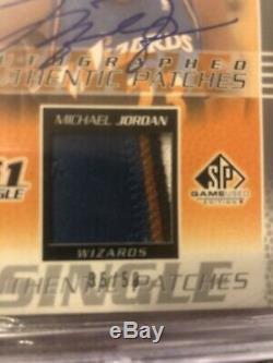 Michael Jordan Sp Game Used 4-color Patch Auto /50