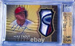 Mike Trout 2017 Topps Dynasty Gold #MT3 Angels 4 Color Patch Auto 4/5 BGS 9.5