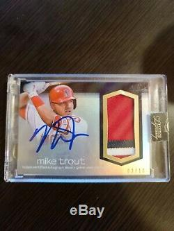 Mike Trout 2018 Topps Dynasty Auto 3 Color Patch /10