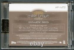 Mike Trout 2018 Topps Dynasty Blue 3-color Patch Auto Autograph #6/10 Angels