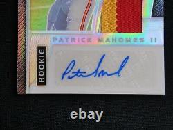Patrick Mahomes 2017 Panini Prizm Rookie Patch Auto 88/99 Rpa 2 Color! Autograph