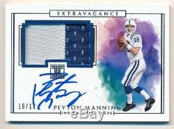 Peyton Manning 2019 Panini Impeccable Autograph 2 Color Patch Auto Sp #10/10