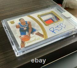 RJ Barrett Flawless Rookie Patch Auto 4 COLOR RPA /10 SSP GOLD 1/1 EBAY