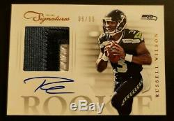Russell Wilson 2012 Prime Signatures 3 Color PATCH AUTO RC /99 Seattle Seahawks