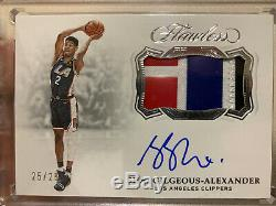 Shai Gilgeous-Alexander 2018-19 Panini Flawless 4 Color Game Worn Patch Auto /25