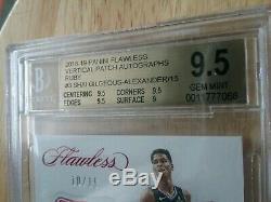 Shai Gilgeous-Alexander Flawless Auto 4 Color Patch RC Vertical #10/15 BGS 9.5