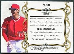 Shohei Ohtani 2018 Leaf Trinity 4-color Patch Auto Autograph Rookie Rc Rare