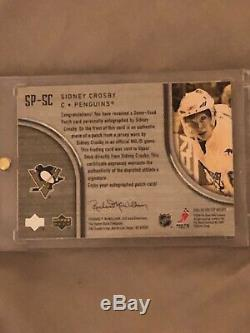 Sidney crosby cup rookie patch auto /75 2005/06. 3 color patch very rare