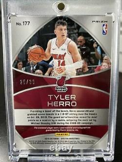 Spectra Tyler Herro Rookie 25/39 Prizm 2 Color Patch On Card Auto RPA RC