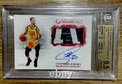 Stephen Curry 2018/19 Panini Flawless Auto Color Patch Sp #12/13 Bgs 9.5 Gem 10