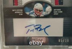 TOM BRADY GOAT Auto 2009 Topps Unique GAME WORN Sweet 4 Color Patch Best of /10