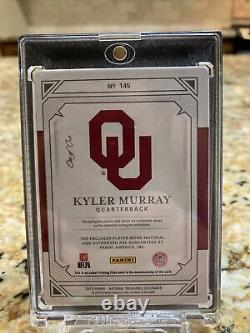 TRUE 1/1 2019 National Treasures College Kyler Murray RPA 2Color On-Card Auto RC