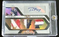 Tom Brady 2008 Triple Patches Logo 3 Color Auto #d 2/3 Autograph 6x Sb Champs