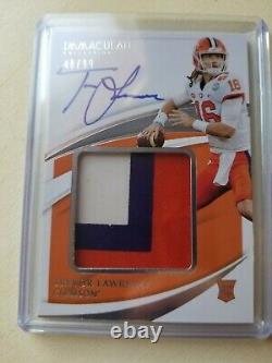 Trevor Lawrence On Card Auto Immaculate /99 3 Color Patch Rc Jaguars 2021