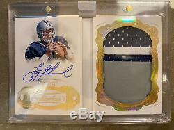 Troy Aikman 2019 Flawless #01/10 Patch Auto Booklet Cowboys Rare 3 Color