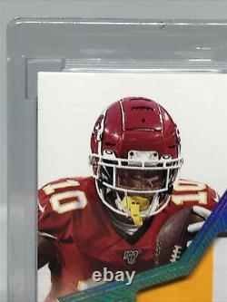 Tyreek Hill 2019 Panini Flawless Star Swatch 3 Color Patch On Card Auto 19/20
